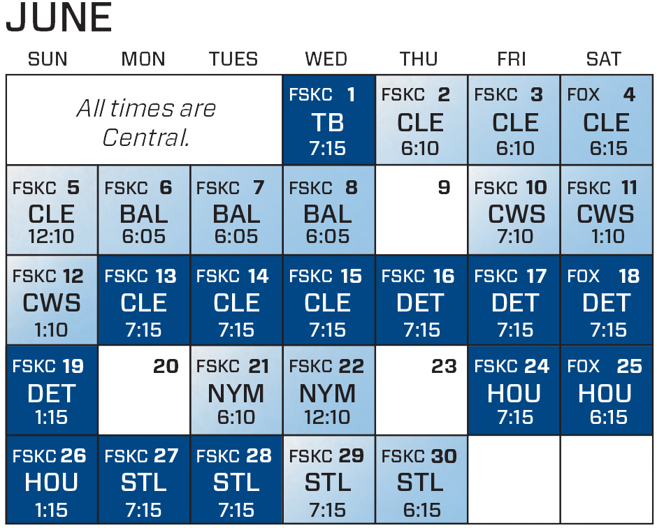 photograph relating to Kc Royals Schedule Printable titled kc16-jun 93.7 THE OUTLAW