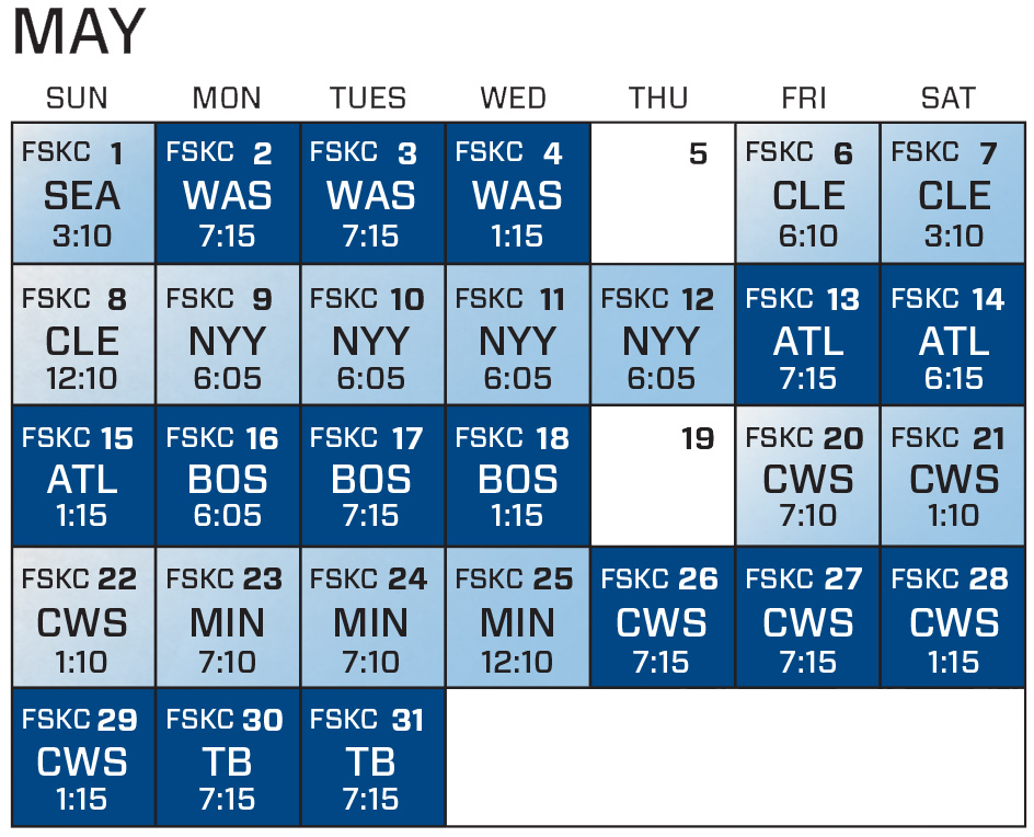 image regarding Kc Royals Schedule Printable called kc16-might 93.7 THE OUTLAW